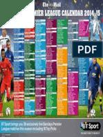Premier League Calender 14/15