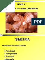 Tema 3 Simetría de Las Redes Cristalinas
