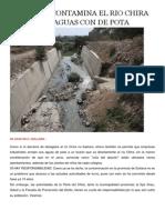 Como Se Contamina El Rio Chira Con Aguas Con de Pota