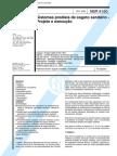 NBR 8160 - Sistemas Prediais de Esgoto Sanitario - Projeto e Execucao