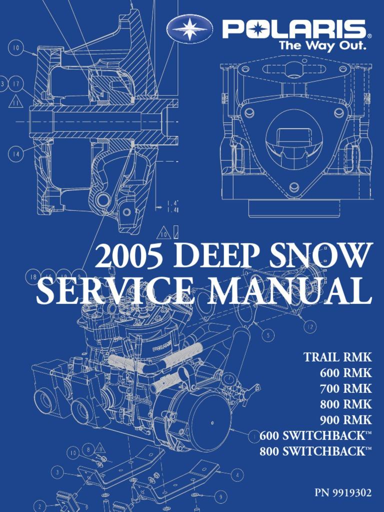 2005 Deep Snow Polaris 900 Service Manual | Ignition System | Clutch