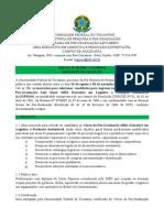 Edital Nº 01_2014 - Seleção - MBA Executivo Em Logística e Produção Sustentável