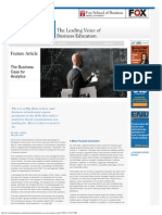 BizEd Magazine _ the Business Case for Analytics