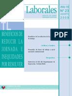 Tema Laboral Nº23 Beneficios de Reducir La Jornada e Inequidades Por Resolver