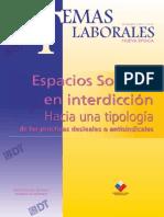 Tema Laboral Nº26 Espacios Sociales en Interdicción. Hacia Una Tipología de Las Prácticas Desleales o Antisindicales