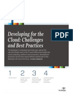 Developing for the Cloud Challenges and Best Practices
