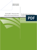 Productivity Commission Auto Industry Report
