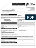 Residency Change Request Form