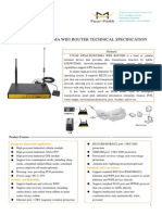 F7834S GPS+LTE&WCDMA WIFI ROUTER TECHNICAL SPECIFICATION