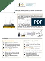 F3434S WCDMA&HSDPA&HSUPA&HSPA+ WIFI ROUTER TECHNICAL SPECIFICATION