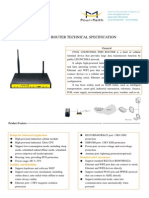 f3834 Lte&Wcdma Wifi Router Specification