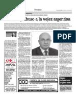 maltrato y abuso a la vejez argentina