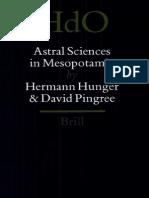 Astral Sciences in Mesopotamia Handbook of Oriental Studies