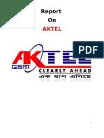 Report on Customer Satisfaction of Aktel