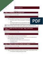 Speech Oral Presentation Guidelines