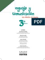 3° Básico - Lenguaje y Comunicación - Profesor- 2013