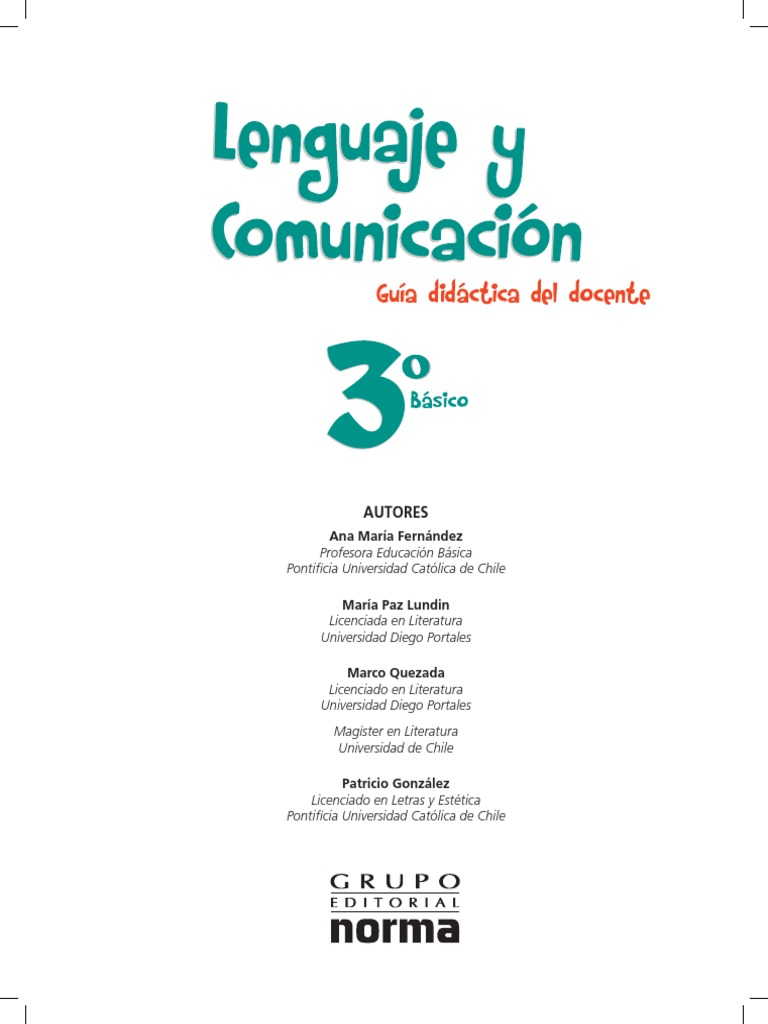 3° Básico - Lenguaje y Comunicación - Profesor- 2013 d687c3ced64