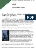 Antje Schrupp Rezension Zum Buch Von Linda Zerilli Feminismus Und Der Abgrund Der Freiheit Frauen