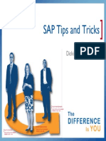 SAP Tips and Tricks