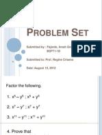 Algebra -Factoring