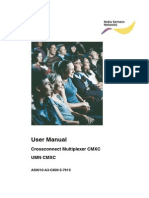 Crossconnect Multiplexer CMXC User Manual