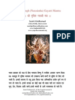 Shri Narasimha Gayatri Mantra Sadhna Evam Siddhi in Hindi PDF