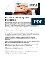 Benefits of Blackberry Apps Development