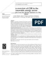 An Overview of CSR in the Renewable Energy Sector