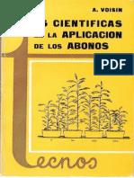 André Voisin - Leyes Científicas en La Aplicación de Los Abonos
