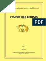 Esprit Des Choses n1-2012