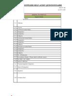 Supplier Self Audit Form