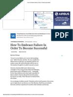 How to Embrace Failure