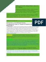 CIE 11 vs DSM v OMS vs APA El Dr Michael Rutter Salta a La Palestra