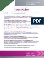 TFTV Online Resources Guide