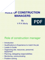 Role of Construction Managers II