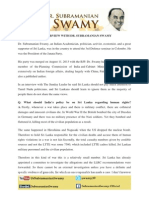 An Interview With Dr.Subramanian Swamy