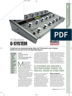 Review G System Music Tech