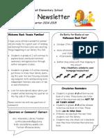 1st quarter newsletter for families