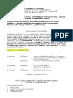 001 Conc Prof Substituto Cronograma Patologia- Patologia Geral