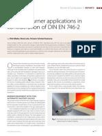 Practical Burner Applications of DIN en 746-2