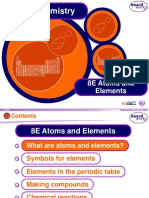 8e atoms and  elements