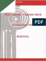 Test i Norsk - Hoyere Nivaa Eksempeltest 2011