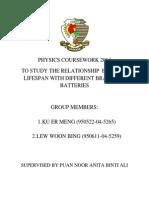 Physics Coursework 2014 Muka Depan