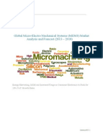 Global Micro-Electro Mechanical Systems (MEMS) Market Analysis and Forecast (2013 – 2018)