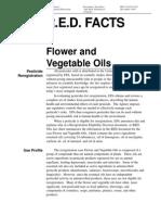 Fact Sheet for Flower and Vegetables Oils
