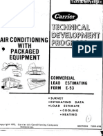 AC With Packaged System - Commercial Load Estimating