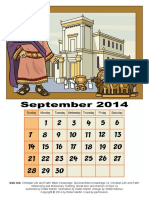 3D Calendar-Old Testament, September 2014