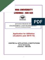 Affiliation 2014 15