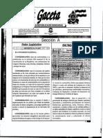 Ley de Promocion a La Generacion de Energia Electrica Con Recursos Renovables 70-2007