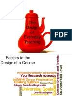 design of everyday teaching